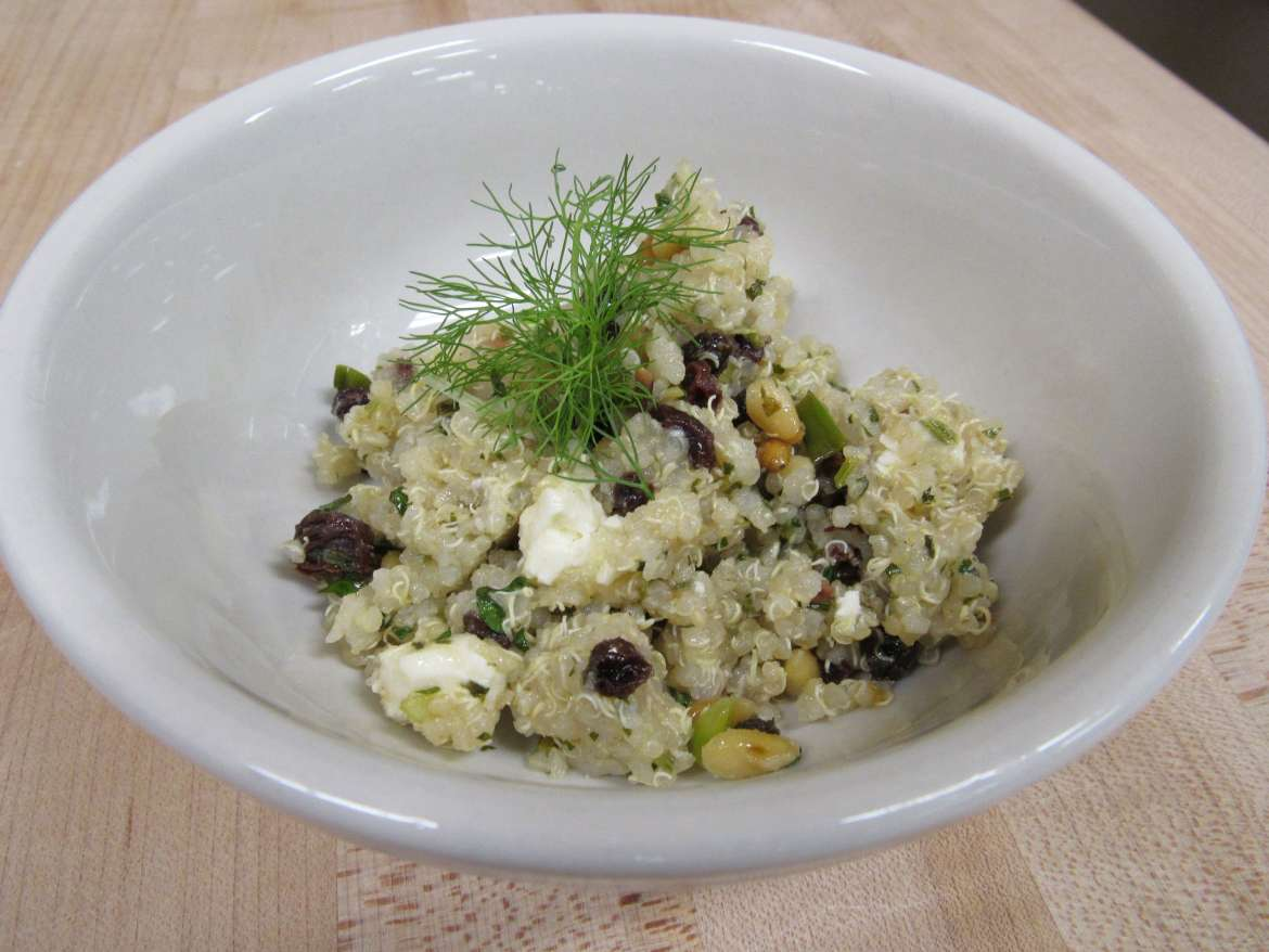 bowl of Mediterranean Inspired Quinoa