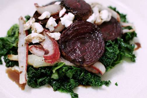 Roasty Toasty Beets and Kale Salad