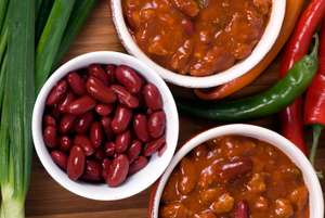 Bowls of Red Bean and Quinoa Chili