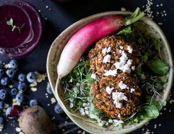 Spiced Quinoa and Kale Patties